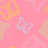 Motyle na barwionym tle Zdjęcie Stock