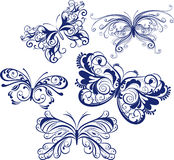motyle ornamentacyjni Obraz Stock