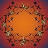 motyle projektują kwiecistego rocznika ilustracji