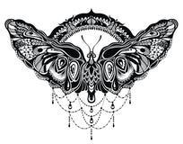 Motyle projektują w tatuażu stylu ilustracji