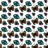 motyle rysujący mikrotelefon Entomologiczna kolekcja wysoce szczegółowy Obrazy Stock