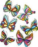 motyle ustawiający royalty ilustracja