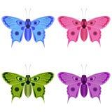 Motyle w barwić formach ilustracja wektor