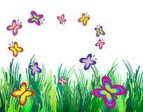 motyle zielenieją łąkę Zdjęcie Stock