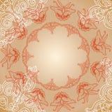Motyli bezszwowy wzór z ręka remisu ornamentem Fotografia Royalty Free