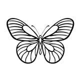 Motyli Czarny I Biały wektor ilustracji