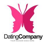 Motyli datowanie logo ilustracji