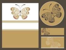 Motyli karciany projekt Zdjęcia Stock