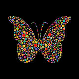 Motyli kształt Fotografia Royalty Free