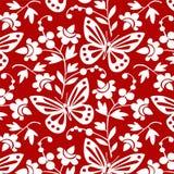 motyli kwiatów wektor Zdjęcia Royalty Free