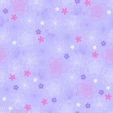 motyli kwiatów wzoru powtórka bezszwowa Zdjęcia Royalty Free