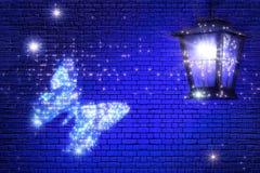 Motyli latanie światło Czarodziejski abstrakt Obrazy Royalty Free