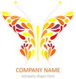 motyli logotyp Zdjęcie Stock