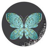 Motyli ornament Zdjęcia Royalty Free