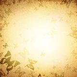 Motyli rocznika tło Fotografia Royalty Free