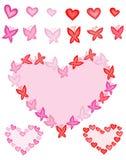 motyli serca Obrazy Stock