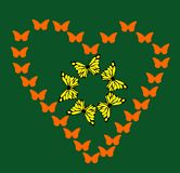 Motyli serce Obraz Stock