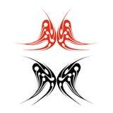 Motyli tatuaż Zdjęcia Stock