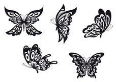 Motyli tatuaże ilustracji