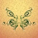 Motyli tatuażu kształt Zdjęcie Stock