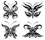 motyli ustalony plemienny ilustracja wektor