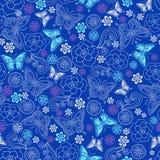 motyli wzoru powtórki róże bezszwowe Fotografia Stock