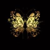 motyli złoto Obrazy Stock