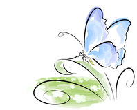 motylia akwarela Obrazy Stock