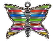 Motylia broszka royalty ilustracja