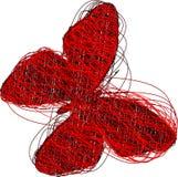 motylia czerwień royalty ilustracja