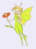 motylia dama Zdjęcie Stock