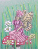 Motylia dama Obrazy Royalty Free