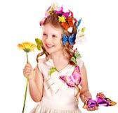 motylia dziecka fryzury wiosna fotografia royalty free