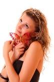 motylia dziewczyna Obrazy Stock