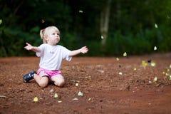 motylia dziewczyna Zdjęcie Royalty Free
