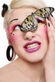 motylia dziewczyna Obraz Stock