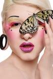 motylia dziewczyna Zdjęcie Stock
