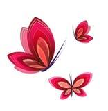 Motylia ikona ilustracji