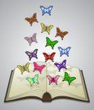 Motylia literatura ilustracja wektor