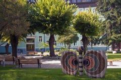 Motylia rzeźba w Varna, Bułgaria Fotografia Royalty Free