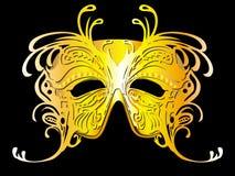 motylia złota ilustraci maska Fotografia Royalty Free