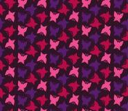 Motylich sylwetek wektoru bezszwowy wzór Zdjęcia Royalty Free