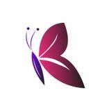 Motylie loga symbolu purpur menchie Zdjęcie Royalty Free