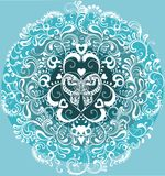 motyliego okręgu dekoracyjny ornamentacyjny biel ilustracja wektor