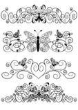 motyliego wzoru spirale Zdjęcia Royalty Free