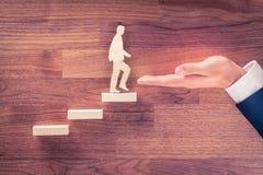 Motywaci i ogłoszenie towarzyskie rozwoju kariera obraz stock