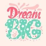Motywaci i sen literowania pojęcie Obrazy Stock