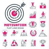 Motywaci pojęcia mapy menchii ikony strategii biznesowej rozwoju projekt i zarządzania przywódctwo pracy zespołowej przyrost royalty ilustracja