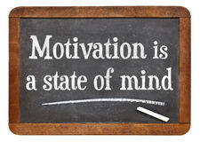 Motywacja jest stanem umysłu Obrazy Stock