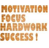 Motywacja, ostrość, ciężka praca, sukces! Zdjęcia Royalty Free